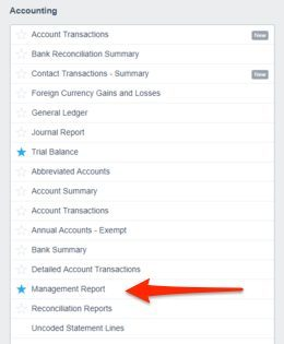 xero management reporting