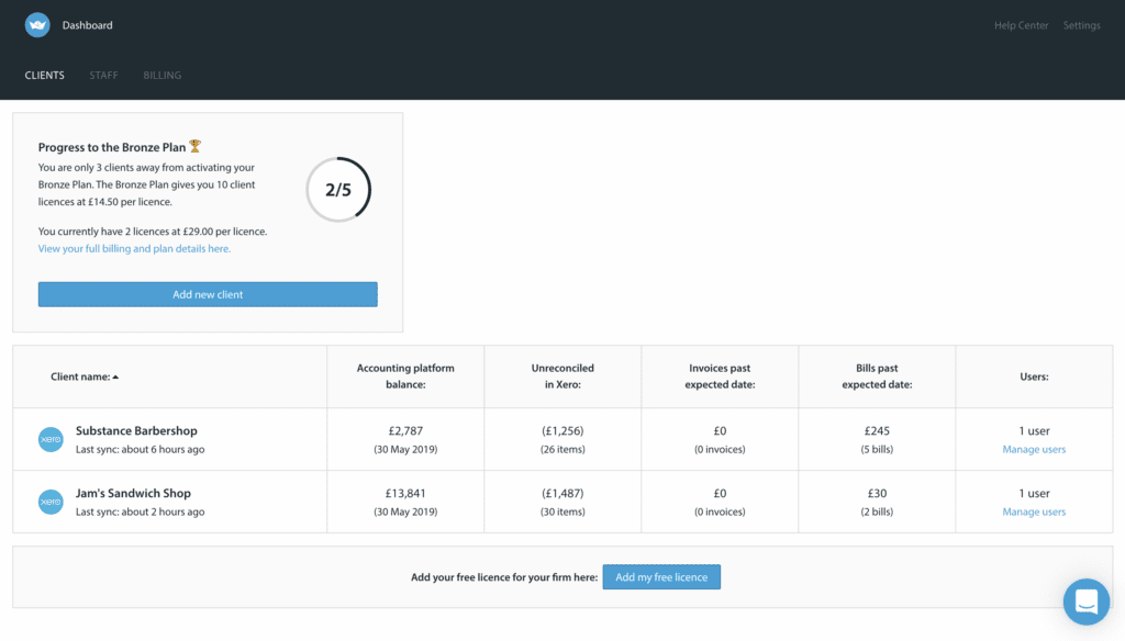 Float partner dashboard