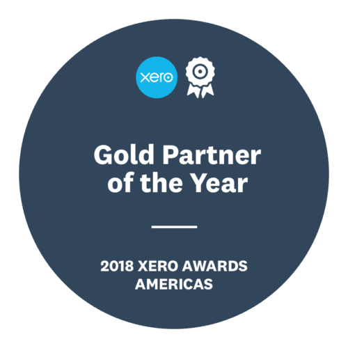 Xero Gold Partner of the Year 2018